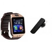Mirza DZ09 Smartwatch and HM1100 Bluetooth Headphone for SONY xperia C4 dual(DZ09 Smart Watch With 4G Sim Card Memory Card| HM1100 Bluetooth Headphone)