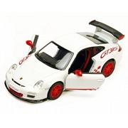 2010 Porsche 911 Gt3 Rs, White Kinsmart 5352 D 1/36 Scale Diecast Model Toy Car