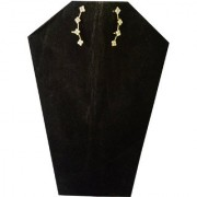 Fashionable Golden Ear Cuffs Earring With White Stone and Golden Plated