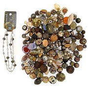 Jesse James Beads 9233 Premium Brown Bead Mix - Plus Free 18 Beaded Chain Brown