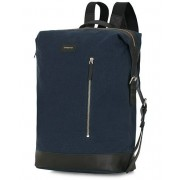 Sandqvist Adam Grand Organic Cotton Canvas Backpack Blue