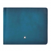 Montblanc Meisterstück Sfumato Monedero RFID piel 11 cm petrol blue