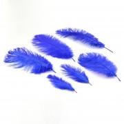 EY Plumas De Avestruz Azul 40-45cm