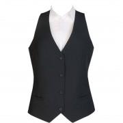 Events Ladies Black Waistcoat - Size L Size: L