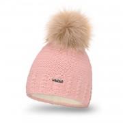 Zimowa czapka damska PaMaMi - Pudrowy róż