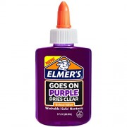 Elmer'S Washable Goes On Purple/Dries Clear School Glue - 3 Ounces (Pack of 8 )
