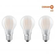 Osram Pack éco de 3 ampoules LED Osram E27 7W verre glacé - Osram