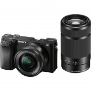 Sony Alpha a6100 16-50 f/3.5-5.6 OSS PZ AF 55-210 f/4.5-6.3 OSS KIT Black Mirrorless fotoaparat SELP1650 16-50mm F3.5-5.6 i SEL55210 55-210mm F4.5-6.3 ILCE-6100YB ILCE6100YB ILCE6100YB.CEC ILCE6100YB.CEC