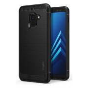 Husa Protectie Spate Ringke Onyx Black plus folie protectie display pentru Samsung Galaxy A8 Plus 2018
