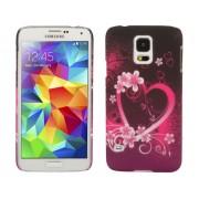 NTR MPC09PUPIH Samsung Galaxy S5 G900 műanyag hátlap tok - lila/pink szives