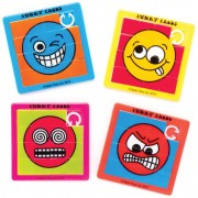 Baker Ross Funny Face Sliding Puzzles - 6 Pocket Puzzles In 6 Assorted Designs. Brain Teasers For Kids. Emoji Party Bag Fillers. Size 6.3cm x 6.3cm.