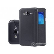 Husa din plastic Nillkin SPARKLE S-View Cover pentru telefon Samsung Galaxy J5 (2015) SM-J500, negru
