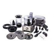 Robot de bucatarie Kenwood Multipro Sense FPM800, 1000 W, Viteza variabila + Pulse, Bol 1.7 l, Blender termorezistent 1.6 l, Negru/Argintiu