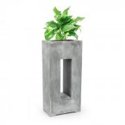 Blumfeldt Airflor, ghiveci pentru plante 45 x 100 x 27 cm din fibră de sticlă interior / exterior gri deschis (GDW11-Airflor45.100B)