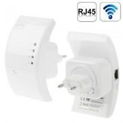 300Mbps Wireless-N WIFI 802.11n Repeater Range Expander (WS-WN518W2)(White)