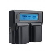 Digital Power Incarcator dual LCD compatibil Acumulator Canon LP E6