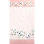 MamaKiddies Baby Bear 2 részes ágyneműhuzat macis mintával pink színben