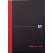 OXFORD Black n' Red Casebound Notebook Ruled A5 192 Pages