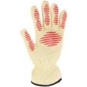 Rosenstein & Söhne 3in1-Sicherheits-Handschuh, Hitze- und Schnittschutz, Anti-Rutsch-Pads
