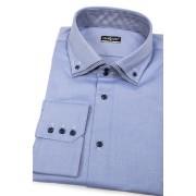 Pánská košile SLIM modrá zevnitř kostkovaná Avantgard 130-1516-41/194