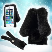 Кейс във формата на зайче за iPhone X - черно или розово