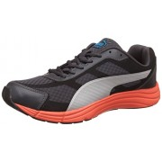 Puma Men's Expedite IDP H2T Asphalt, Black, Red Blast and Puma Silver Running Shoes - 10 UK/India (44.5 EU) (18923302)