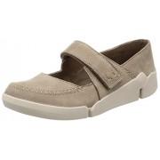 Clarks Women's Tri Amanda Brown Leather Boat Shoes - 3.5 UK/India (36 EU)