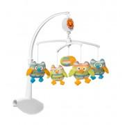 Carusel muzical Baby Ono cu prindere universala Bufnite