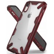 Protectie Spate Ringke Fusion X 8809628562370 pentru iPhone Xr (Transparent/Rosu)