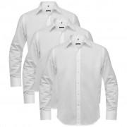 vidaXL Camisa para homem, 3 pcs, tamanho S, branco