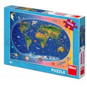 PUZZLE XL - HARTA LUMII (300 PIESE) - DINO TOYS (472136)