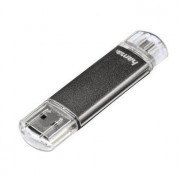 Hama Laeta Twin 8GB USB 2.0 Capacity Grigio unità flash USB