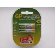 GP 1000mAh acumulatori HR03 AAA Ni-Mh 1,2V cod GP100AAAHC-2PL2