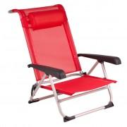 Red Mountain Плажен стол, алуминий, червен, 1204793