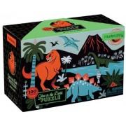 Mudpuppy Puzzle Mudpuppy Puzzle świecące w ciemności Dinozaury 100 elementów 5+