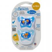 Dr Browns Chupón Prevent Etapa 2 Azul 2 pz
