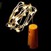 Luci Da Esterno Catena a batteria lunga 1 metro con 20 LED di colore bianco e tappo in plastica