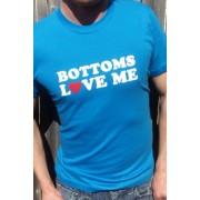 Tomkat Bottoms Love Me Short Sleeved T Shirt Turquoise