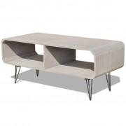 vidaXL TV Cabinet 90x39x38.5 cm Wood Grey