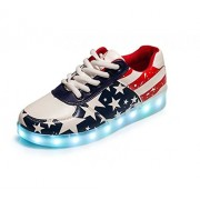 SPORT SHOES Monika Creations Unisex USB Rechargeable US FLAG LED Simulation Shoes Sneaker - Light Up your Personality (9UK/India (43EU))
