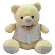 Ultra Bow & Jacket Teddy Soft Toy 15 Inches - Butter