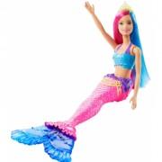 Papusa Barbie sirena cu coronita verde