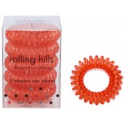 Rolling Hills Professional Hair Rings Transparent Rust Red Haargummi