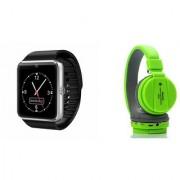 Mirza GT08 Smart Watch and SH 12 Bluetooth Headphone for SAMSUNG GALAXY S 5 MINI DUOS(GT08 Smart Watch with 4G sim card camera memory card |SH 12 Bluetooth Headphone )