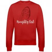 Naughty List Christmas Sweatshirt - Red - L - Red