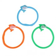 MagiDeal 3Pcs DIVE Ring Cartoon Fish Underwater Swimming Pool Diving Game Kids Swim Toys Water Fun