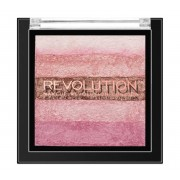 Paleta iluminatoare cu farduri de obraz MAKEUP REVOLUTION Shimmer Brick Pink Kiss 7g