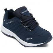 Clymb Cosco Blue Walking Running Gym Sports Shoes For Men's