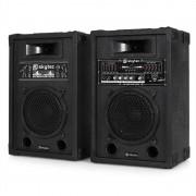 "Fenton / Skytec Set de altavoces PA activos DJ 8"" 600W USB SD MP3 (Sky-170.143)"