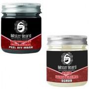 Mister Beard Charcoal Peel of Mask 100gm WITH Skin Whitening Scrub 100g